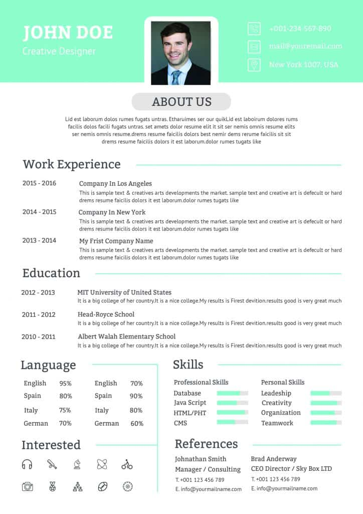 Professional CV Senior Manager - Downloadable CV Word