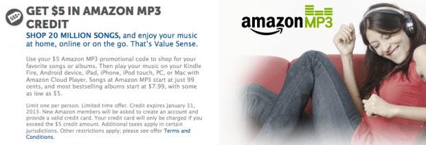HOT! FREE $5 Amazon MP3 Credit & $0 75 Off Scott Coupon