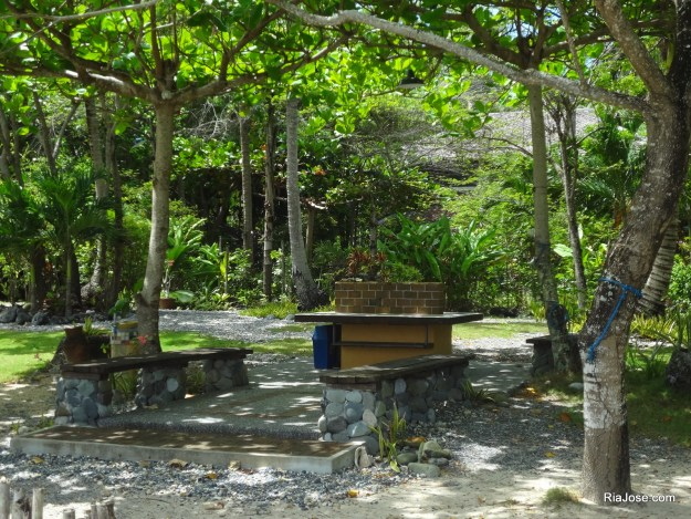 Common outdoor area of Kanakbai in Dahican, Mati, Davao Oriental