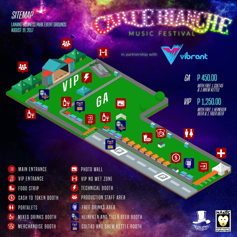 Carte Blanche 2017 Map