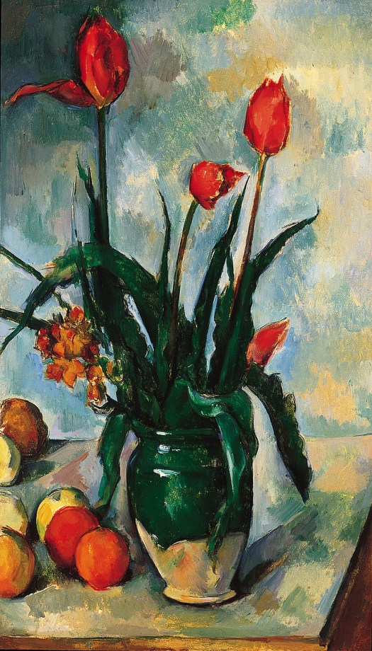 Tulips In A Vase By Paul Czanne Daily Dose Of Art