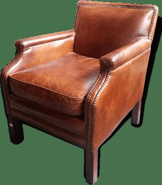 fauteuil club en cuir mydecolab