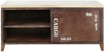 meuble tv atlantide rouille metal mydecolab