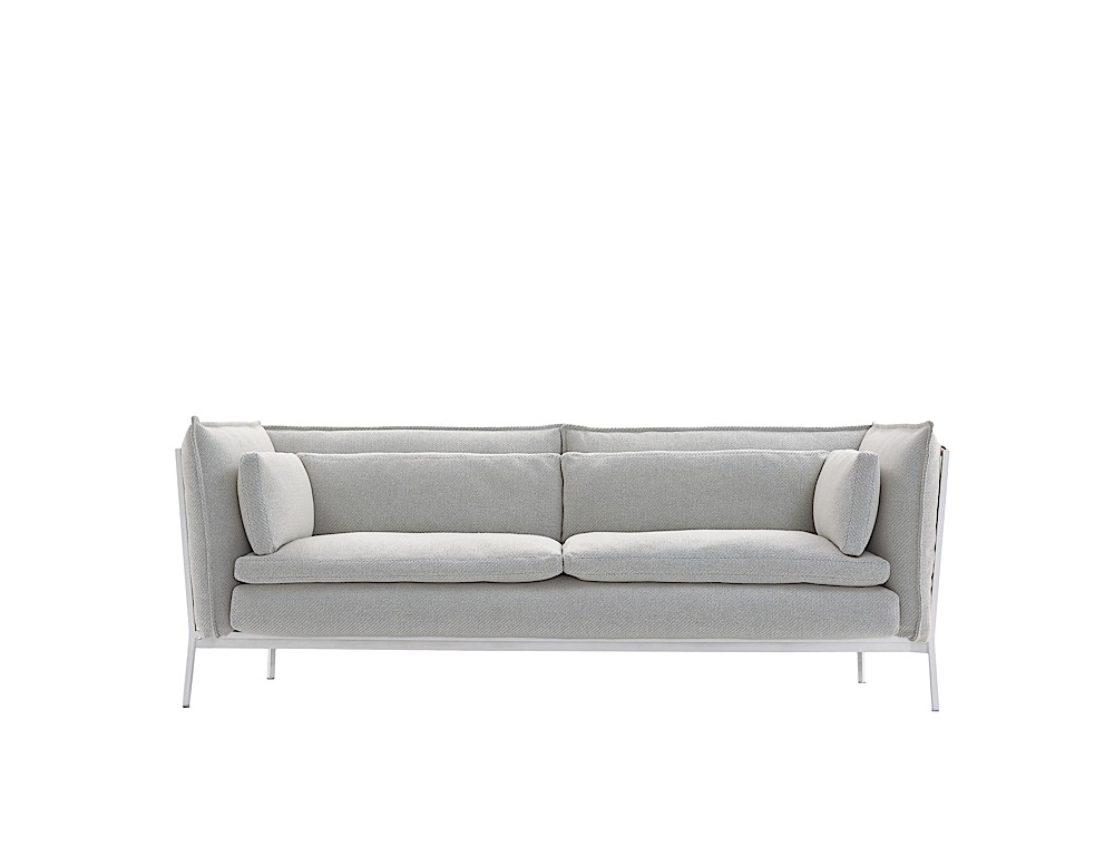the dump sofa beds cream leather in living room basket by ronan & erwan bouroullec — mydecor