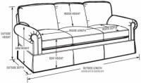 Sofa Dimensions Height Standard Couch Size Ideal Height ...