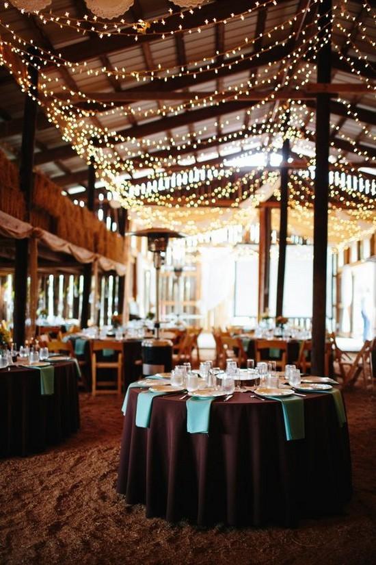 rustic farm barn venue lighting ideas