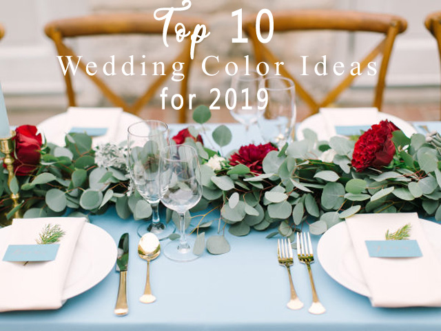 dusty blue and burgundy wedding table centerpiece