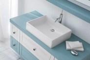 Lavabo Box 50 in ceramica, bianco lucido, senza troppopieno. L 50.5 z P 38.5 x A 12.5 cm