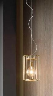 Lampada a sospensione Futura con lampada ad incandescenza. L 23 x P 23 x A 33 cm