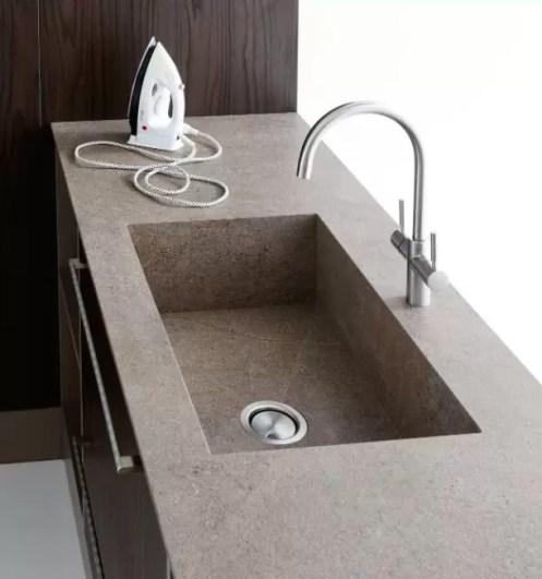 Piano con vasca integrata Hugo, senza troppopieno. L 31 (max) x P 51 x SP 1.3 cm