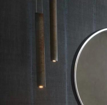 Lampada a sospensione Ovalina con Led L 6 x P 3 x A 60/120 cm