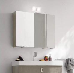 Specchiera Simply con anta a specchio, presa ed interruttore. l 50 x P 20.8 x A 75 cm