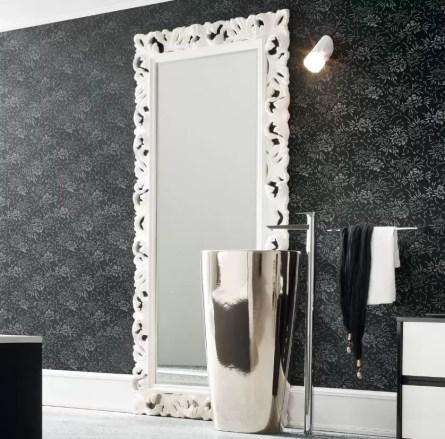 Specchiera Tuscan con cornice, senza prese ed interruttore. L 100 x P 5.5 x A 200 cm