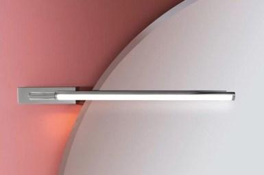 Lampada a parete WOND con Led. L 54.5 x P 7.7 x A 4.4 cm