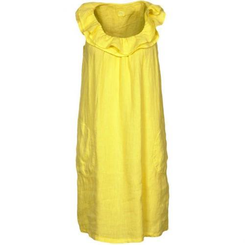 120% Lino Kleid gelb