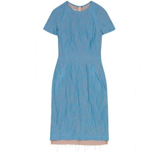Acne Lucille Meliertes Leinen Kleid