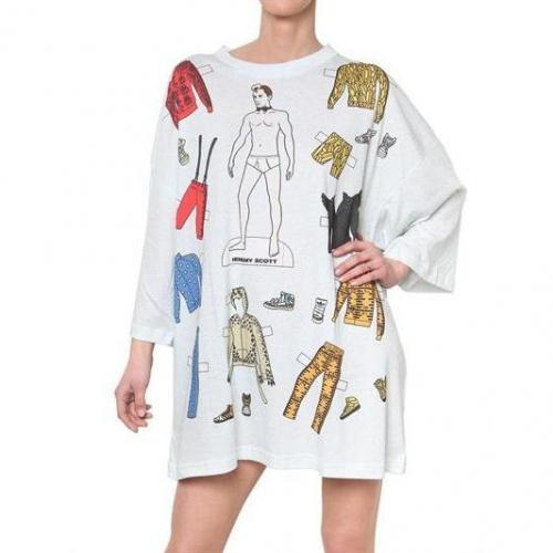 Adidas By Jeremy Scott Jeremy Scott Oversized Jersey Tee Kleid