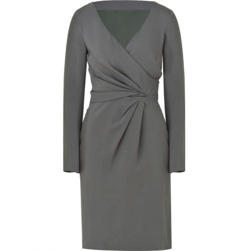 Alberta Ferretti Grey Draped Dress