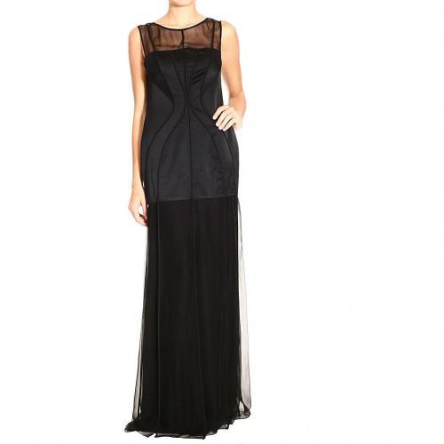 Alberta Ferretti Long sleeveless chiffon satin dress