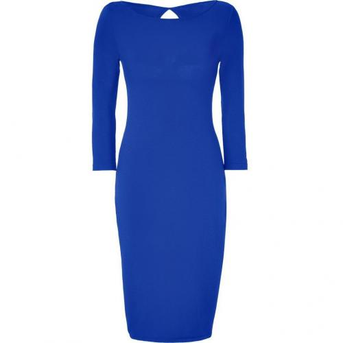 Alberta Ferretti Royal Blue Wool Sweater Dress with Cut-Out Back