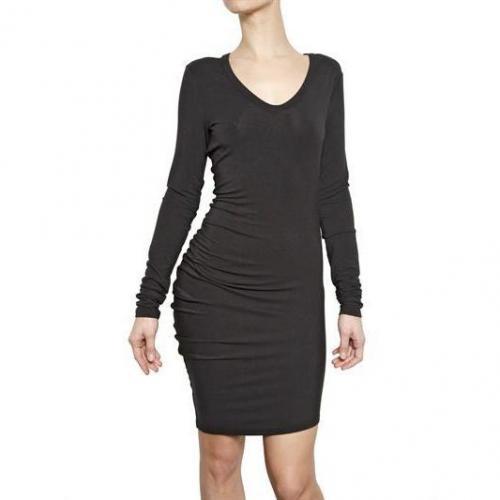 Alexander Wang Gestreiftes Modal Spandex Jersey Kleid