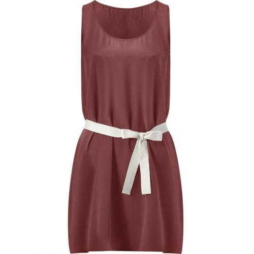 American Vintage Garnet Silk Belted Mini-Dress