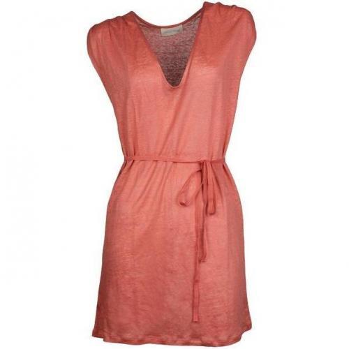 American Vintage Kleid aus Leinen guave
