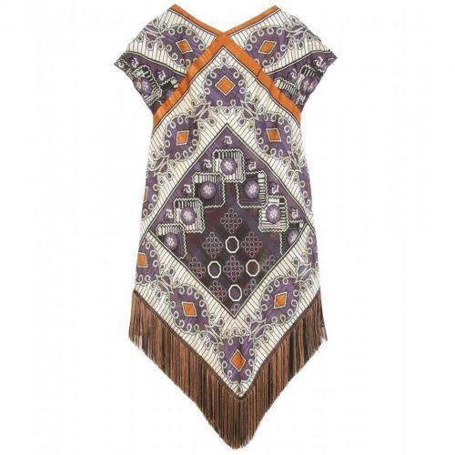 Anna Sui Diamond Kleid Mit Muster Und Fransendetails