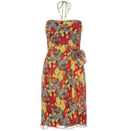 Anna Sui Seidenkleid Mit Floralem Print
