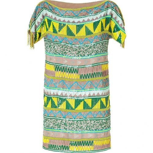 Antik Batik Multicolor Tribal Sequined Mini Dress