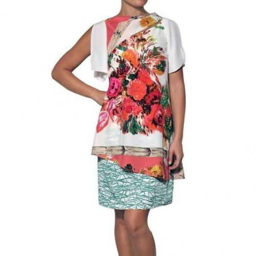 Antonio Marras Bedrucktes Crepe De Chine Kleid