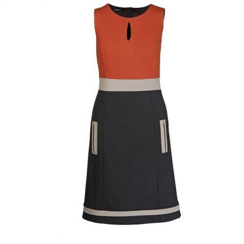 Apart Jerseykleid mehrfarbig Orange Schwarz