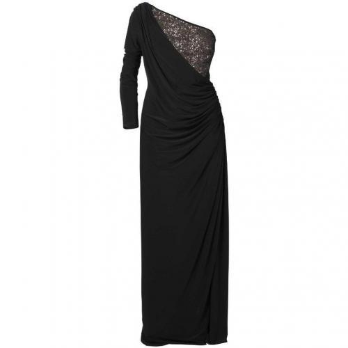 Apart Jerseykleid schwarz Asymmetrisch