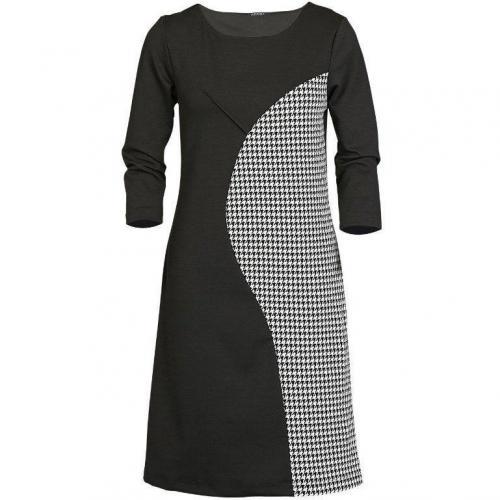 Apart Jerseykleid schwarz grau