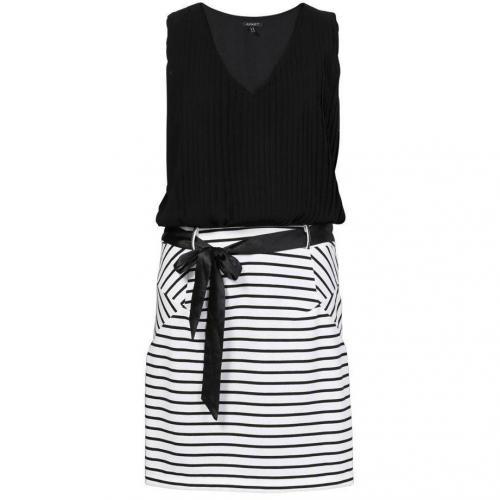 Apart Jerseykleid schwarz/weiß
