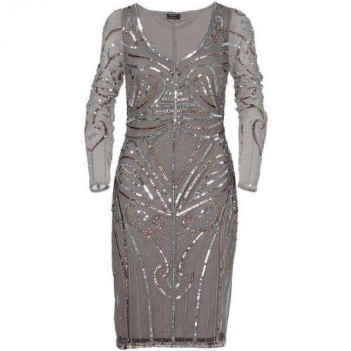 Apart Jerseykleid Silber mit Ärmeln