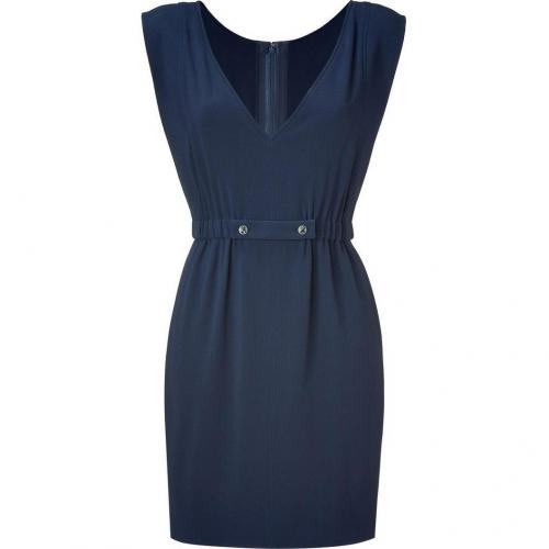 Azzaro Navy Crepe Dress