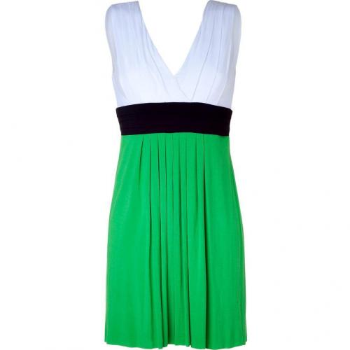 Bailey 44 White/Navy/Green Paddle Puss Dress