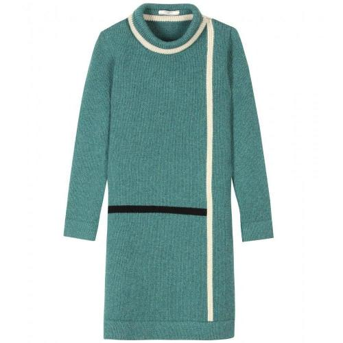 Bouchra Jarrar Shetland Strickkleid Light Green