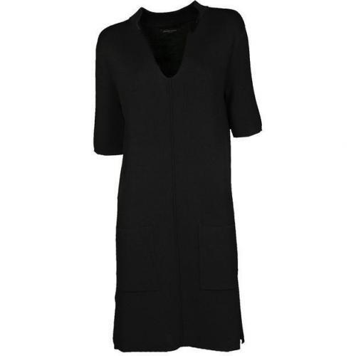 Bruuns Bazaar Strickkleid mit Fronttaschen schwarz
