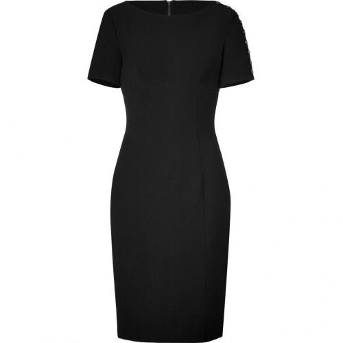Burberry London Black Stretch Crepe Raquel Kleid