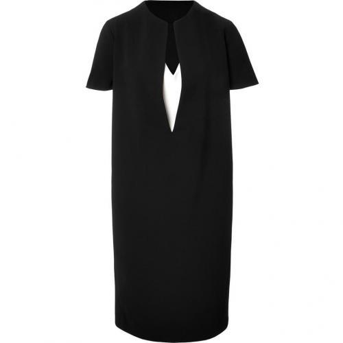 Cédric Charlier Black and White V-Neck Dress