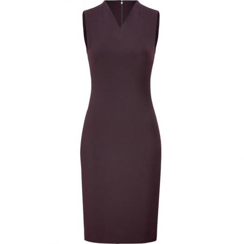 Cédric Charlier Burgundy Sleeveless Sheath Dress