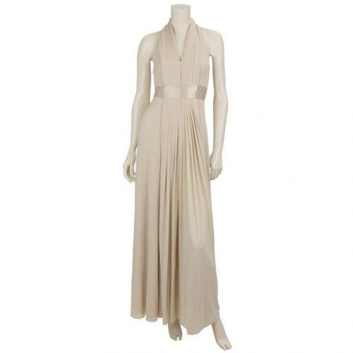 Coast Neckholder-Kleid Goddess Beige
