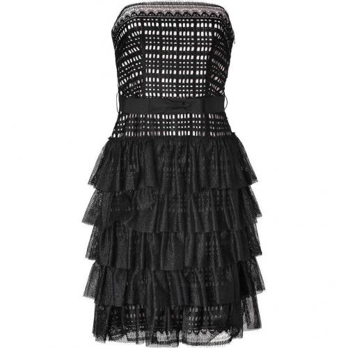 Collette Dinnigan Black Strapless Lace Dress