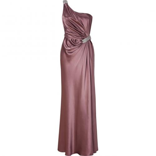 Collette Dinnigan Hazy Rose One Shoulder Gown