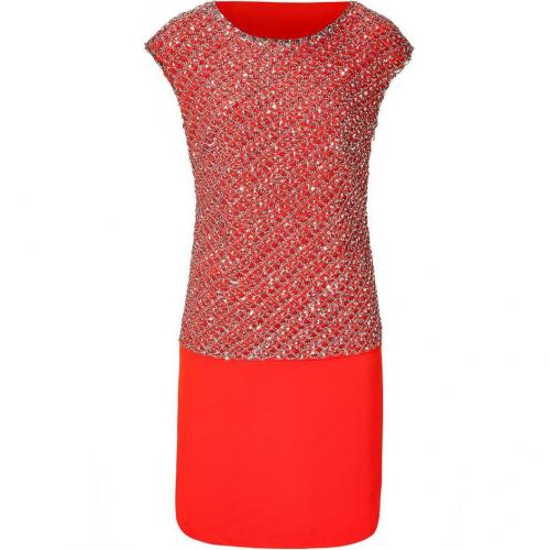 Collette Dinnigan Sunset Sequined Cap Sleeve Silk Dress