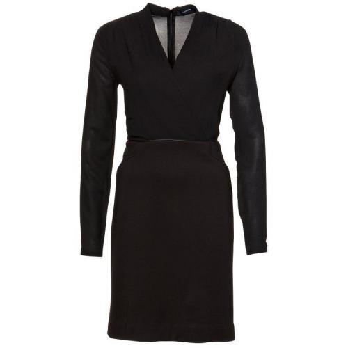 Comma Kleid Schwarz mit Ärmeln