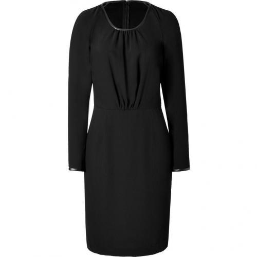 Day Birger et Mikkelsen Black Leather Trim Dress
