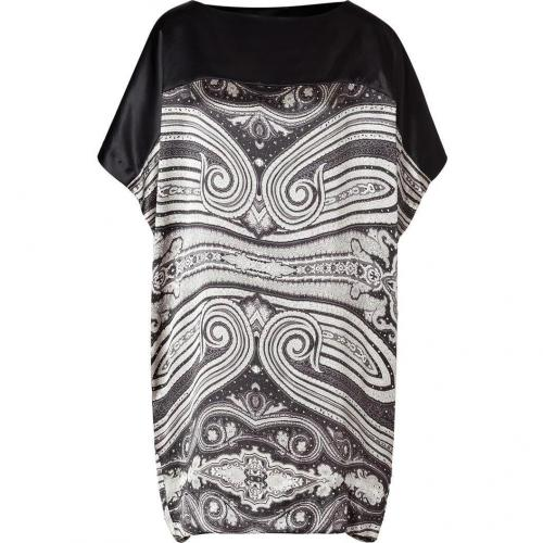 Day Birger et Mikkelsen Black Silk Satin Print Dress